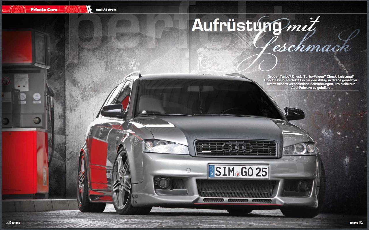 "TUNING Magazin: Ex-Audi ""DerA4"" und ""MrsOrangina"""