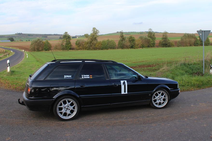 Auf Audi Quattro mit der Startnummer 1 bei der Oberehe Klassik 2013