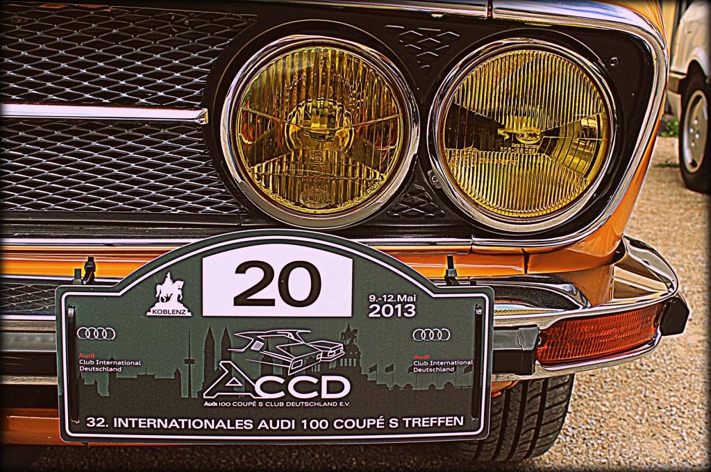 Klassische Sportwagen am Rhein –  Das Audi 100 Coupe S Treffen 2013