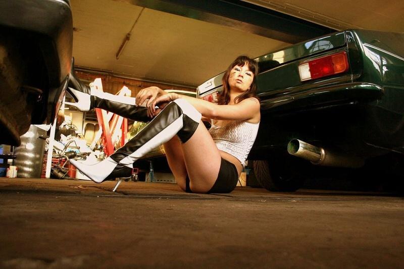 Classic Girl – Schrauberin Crissi lebt bei der Fotografie ihre Fantasie voll aus!