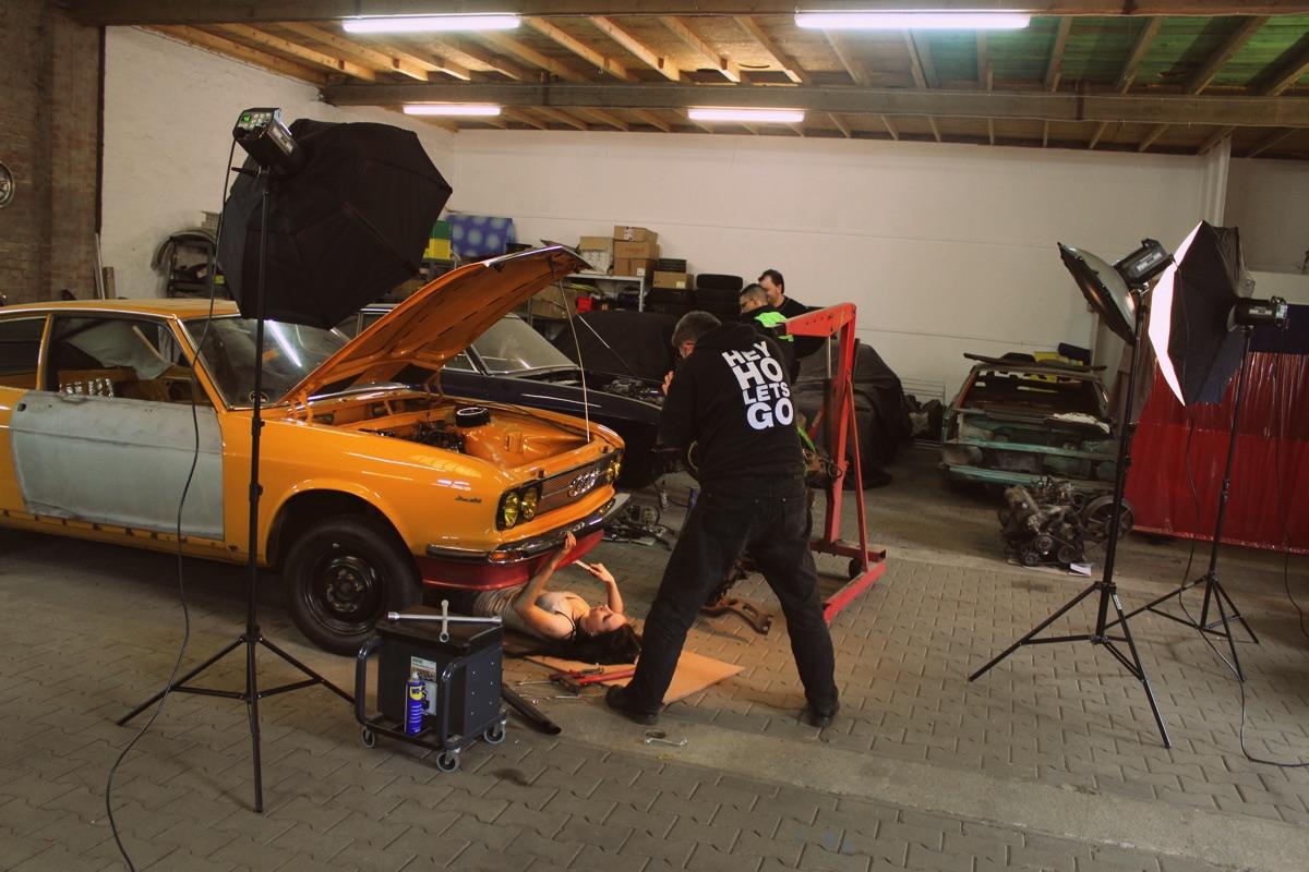 Werkstattshooting im Frühjahr 2014 mit Jessica