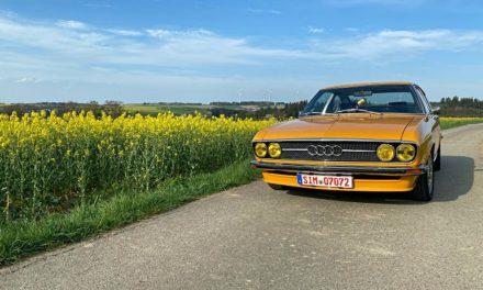"""Das Audi 100 Coupe S """"MrsOrangina"""" im Jahr 2020"""